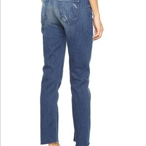 Mother double fray vagabond jeans